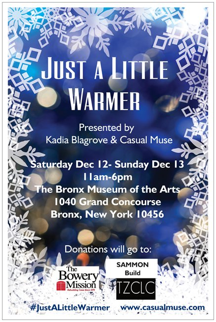 u0026quot just a little warmer u0026quot  clothing drive at the bronx museum